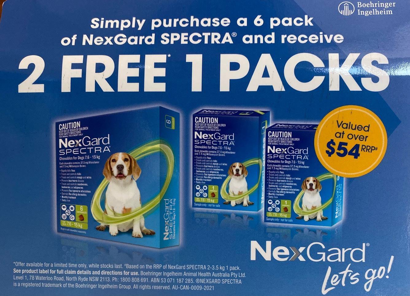 NexGard Spectra, dog, fleas, mites, ticks, protection, 2 for 1 offer